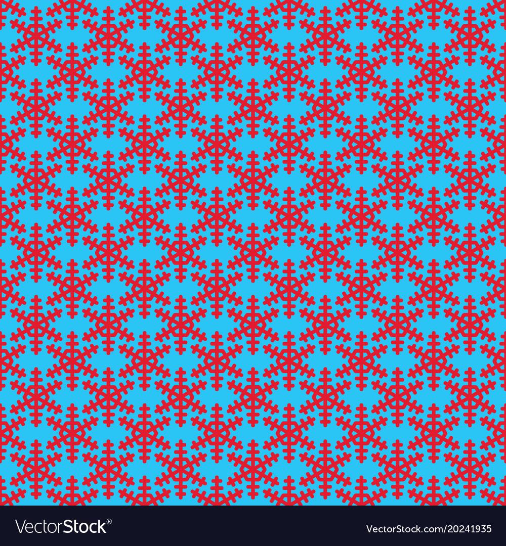 Seamless simple geometric snow flake pattern