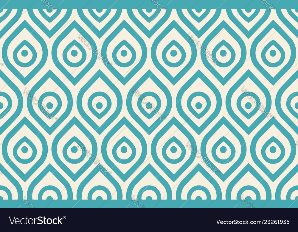 Vintage peacock pattern vector