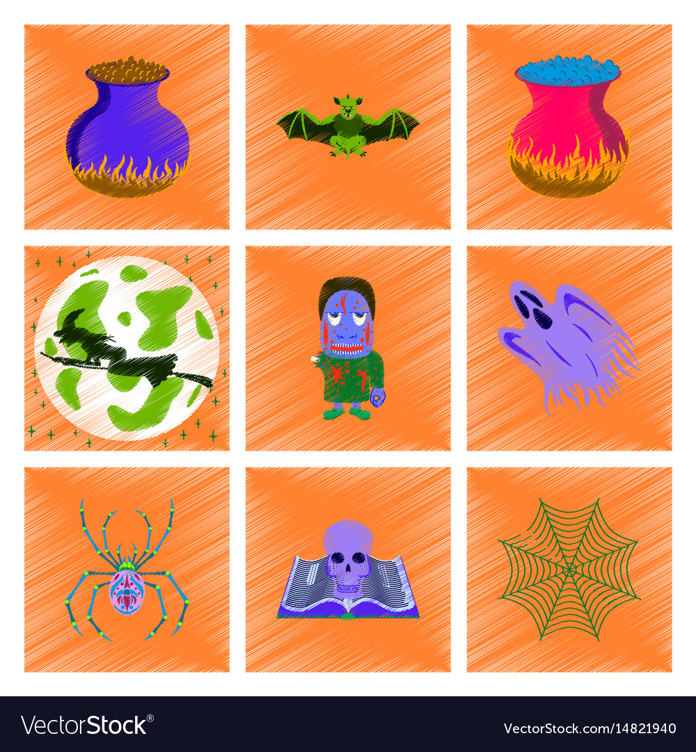 Assembly flat shading style icon halloween cute