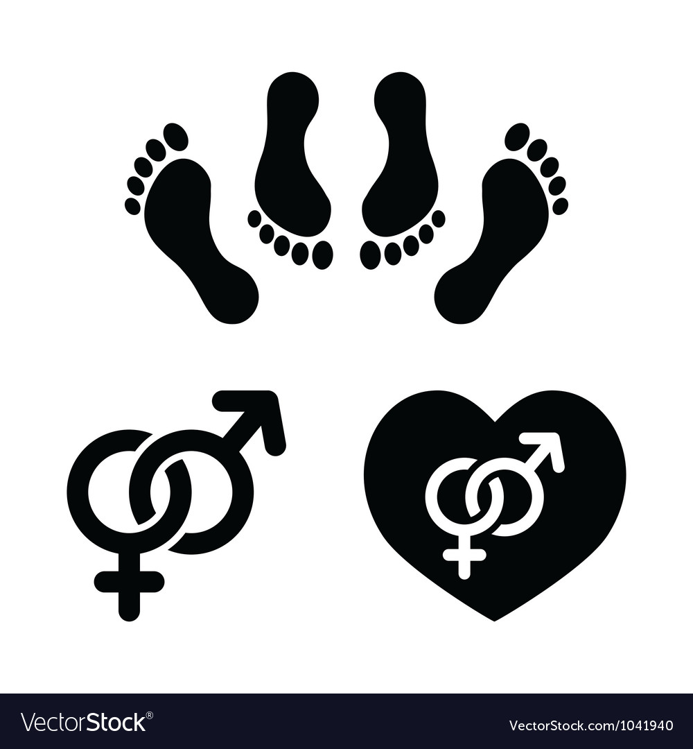 Couple sex making love icons set