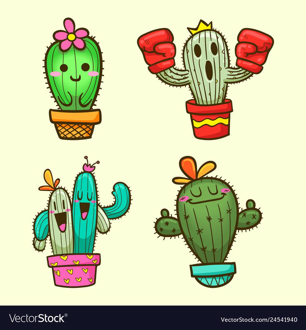 Cute cactus cartoon