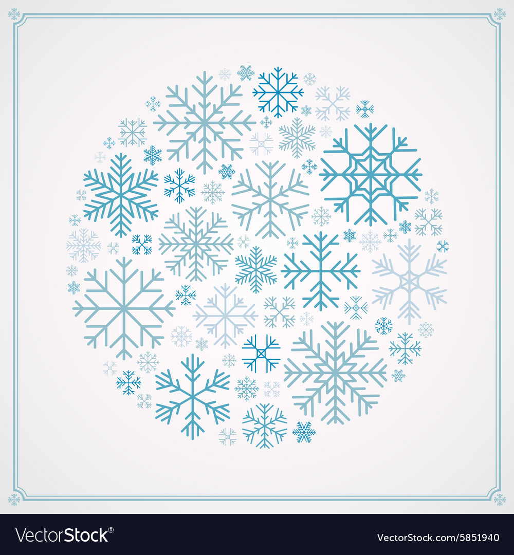 Decorating design made of snowflakes