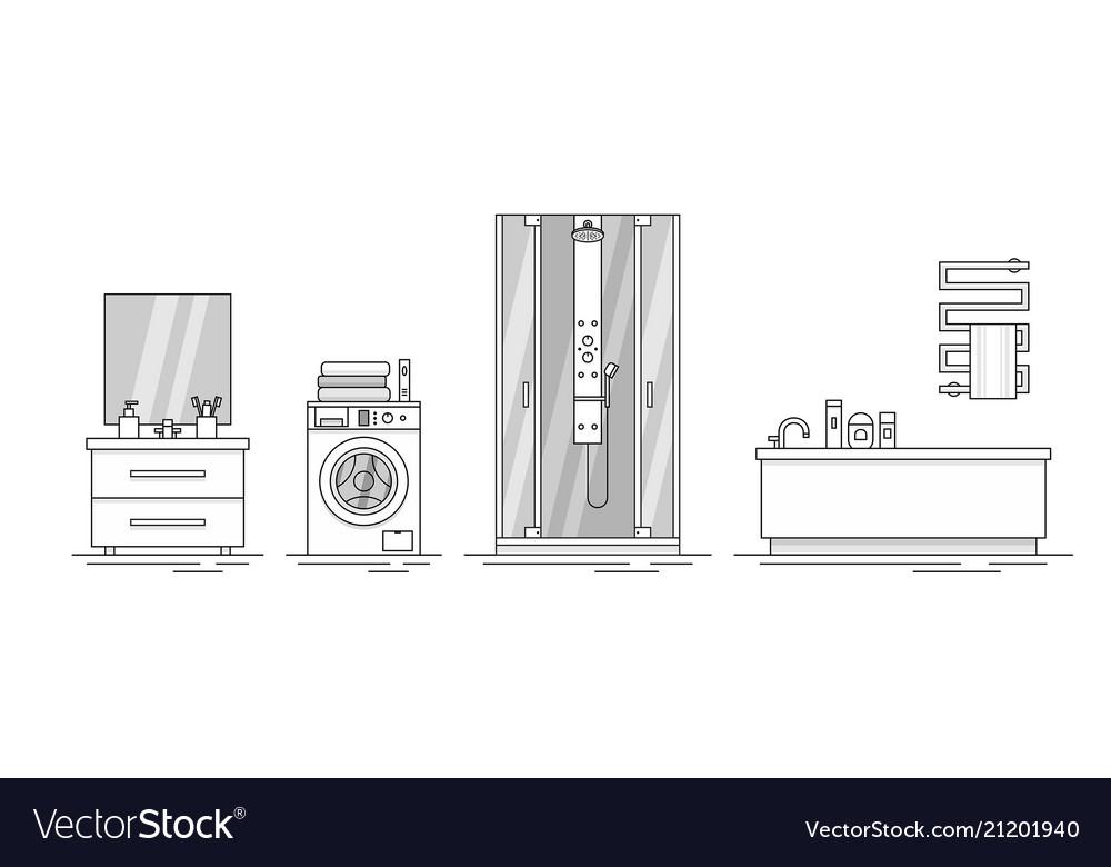 Elements for bathroom interior