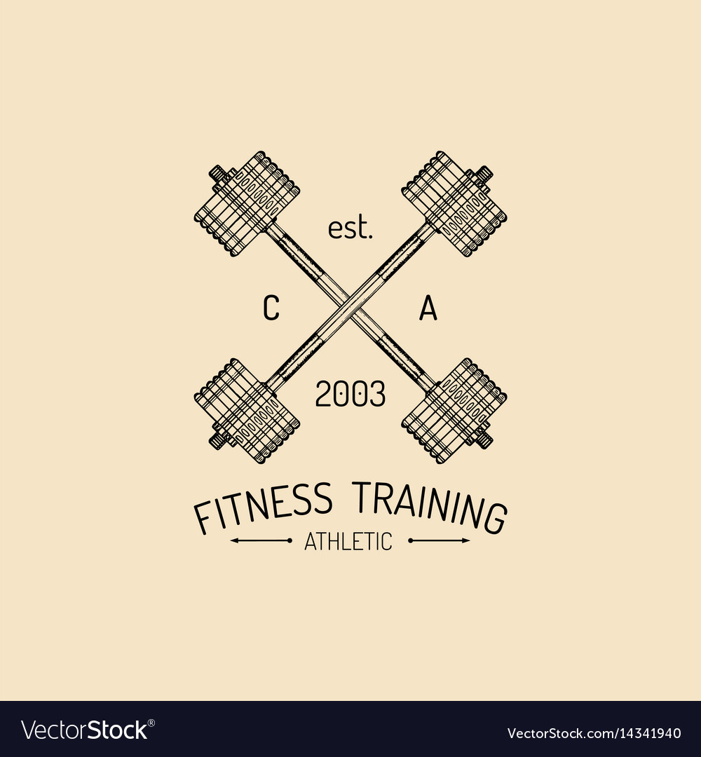 Fitness logo hand sketched athletic