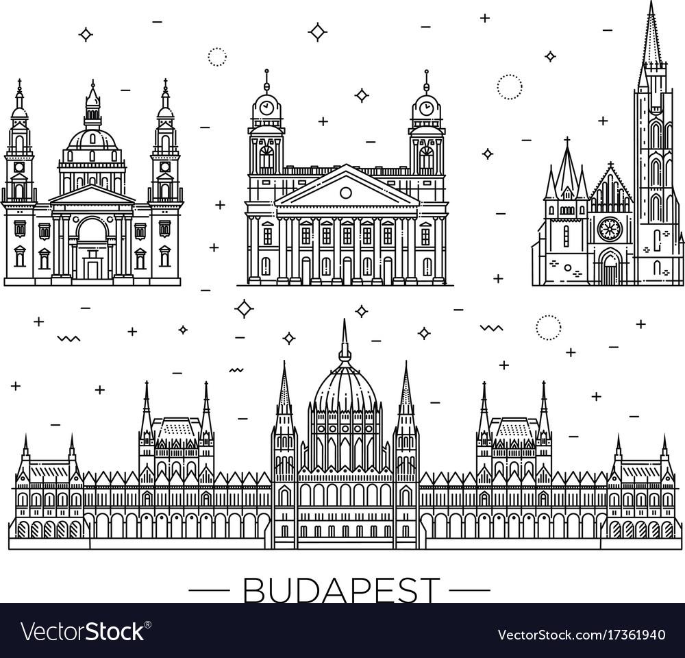 Hungarian travel landmark of historical buildings