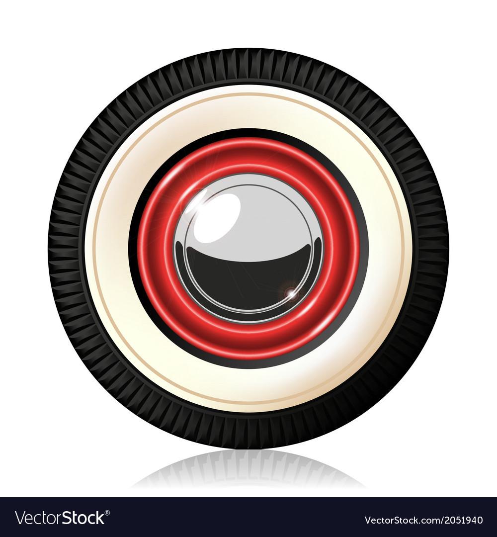 Retro car wheel