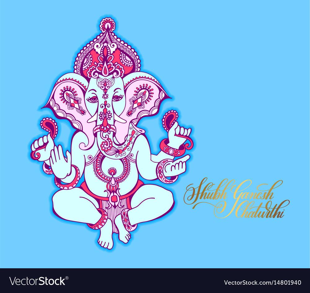 Shubh ganesh chaturthi greeting card to indian
