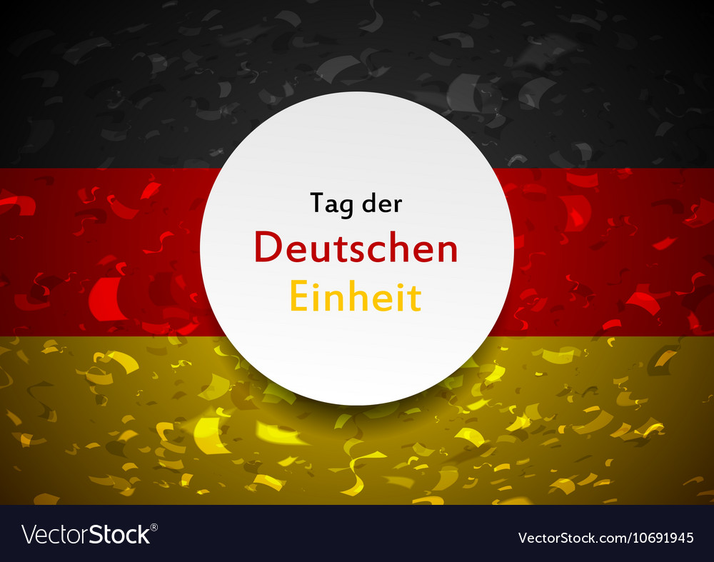Day of German unity abstract design Tag der