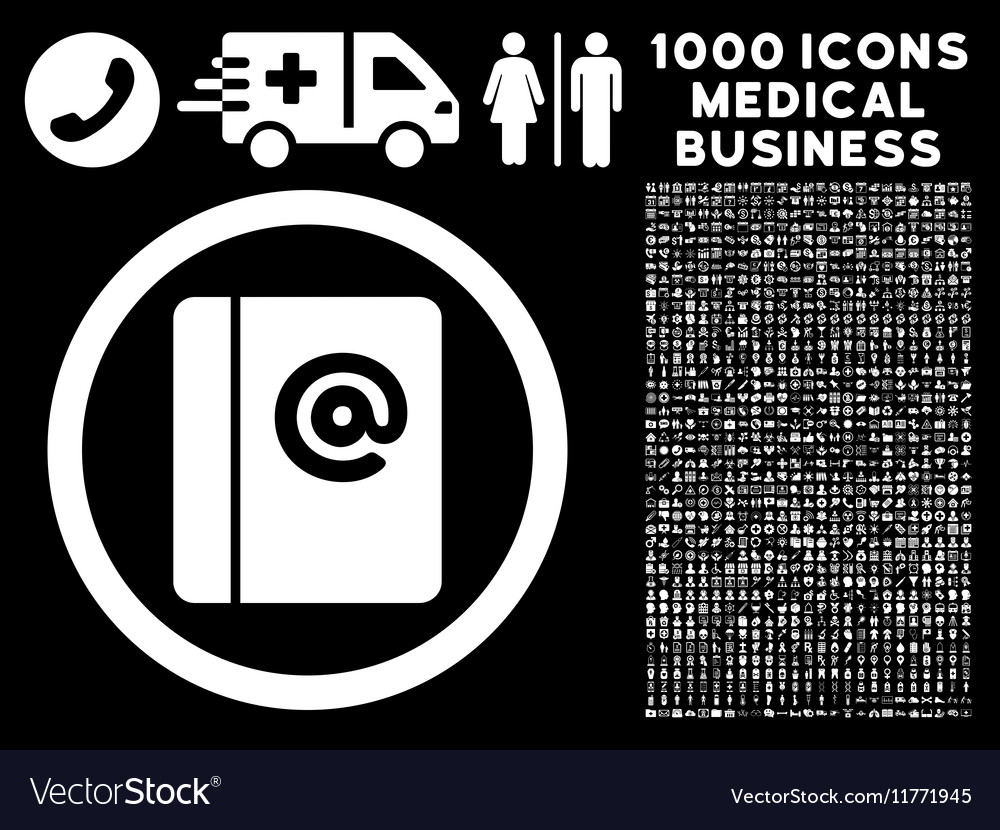 emails rounded icon with medical bonus royalty free vector