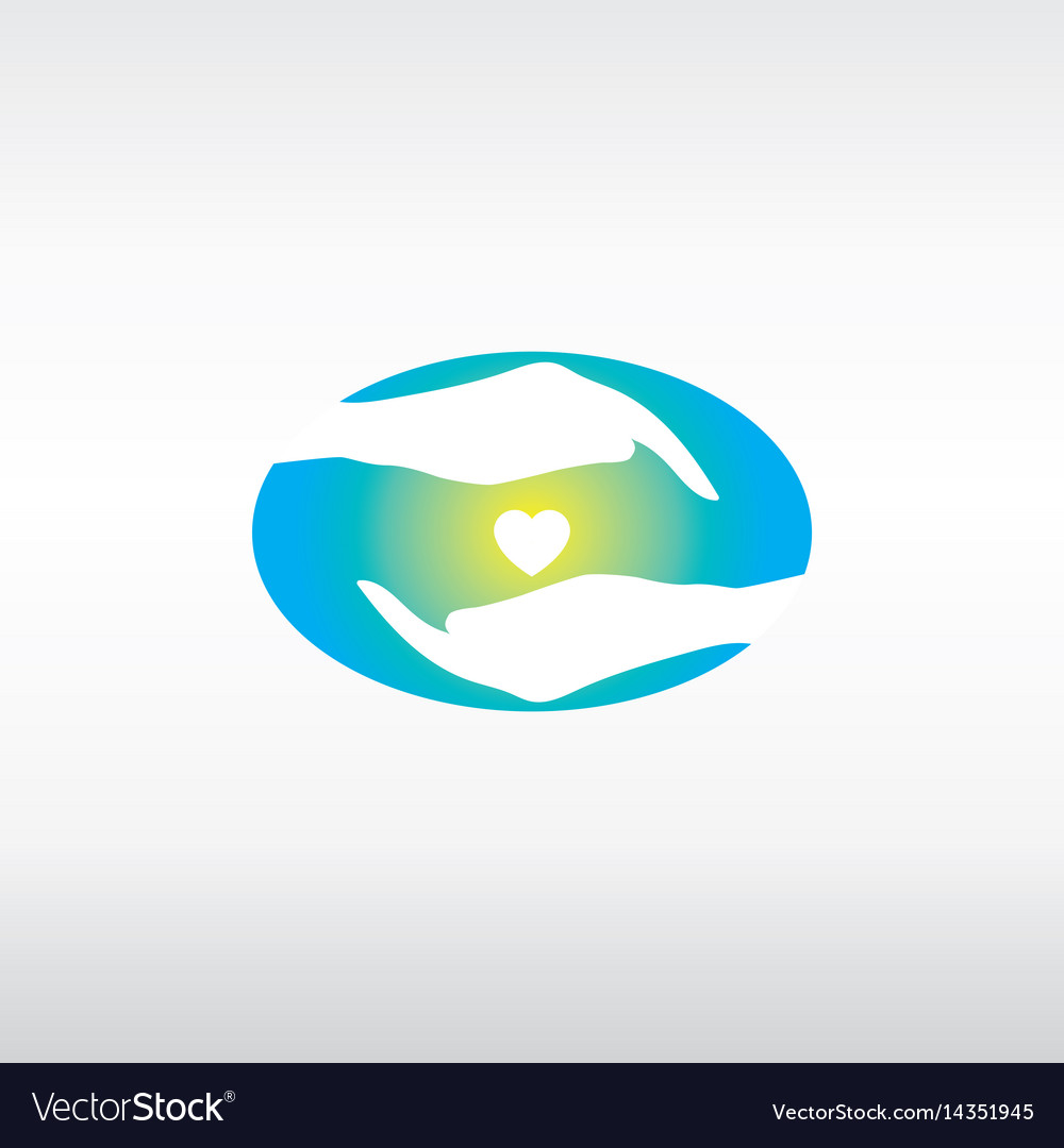 Hands guarding the heart vector image