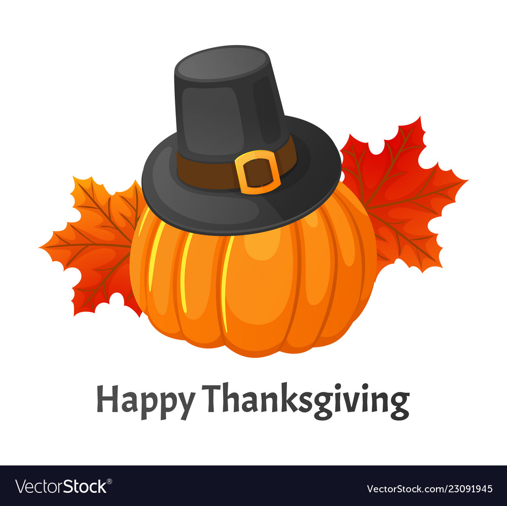 Happy Thanksgiving Day Poster With Signs Vector Image