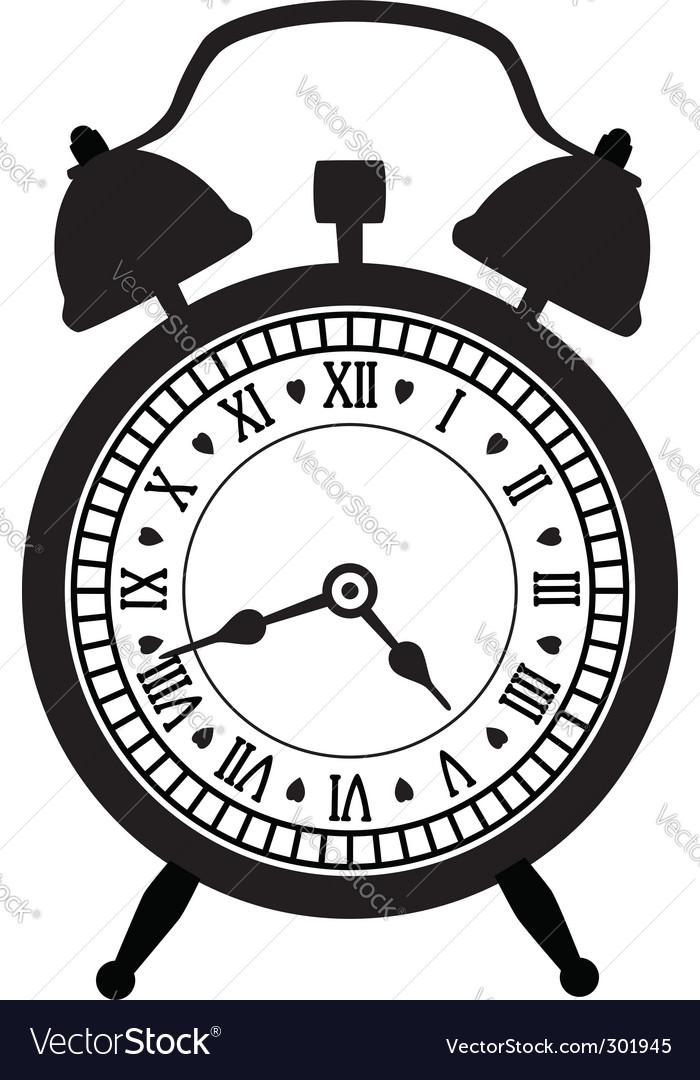 retro alarm clock royalty free vector image vectorstock rh vectorstock com alarm clock factory shop alarm clock vector png