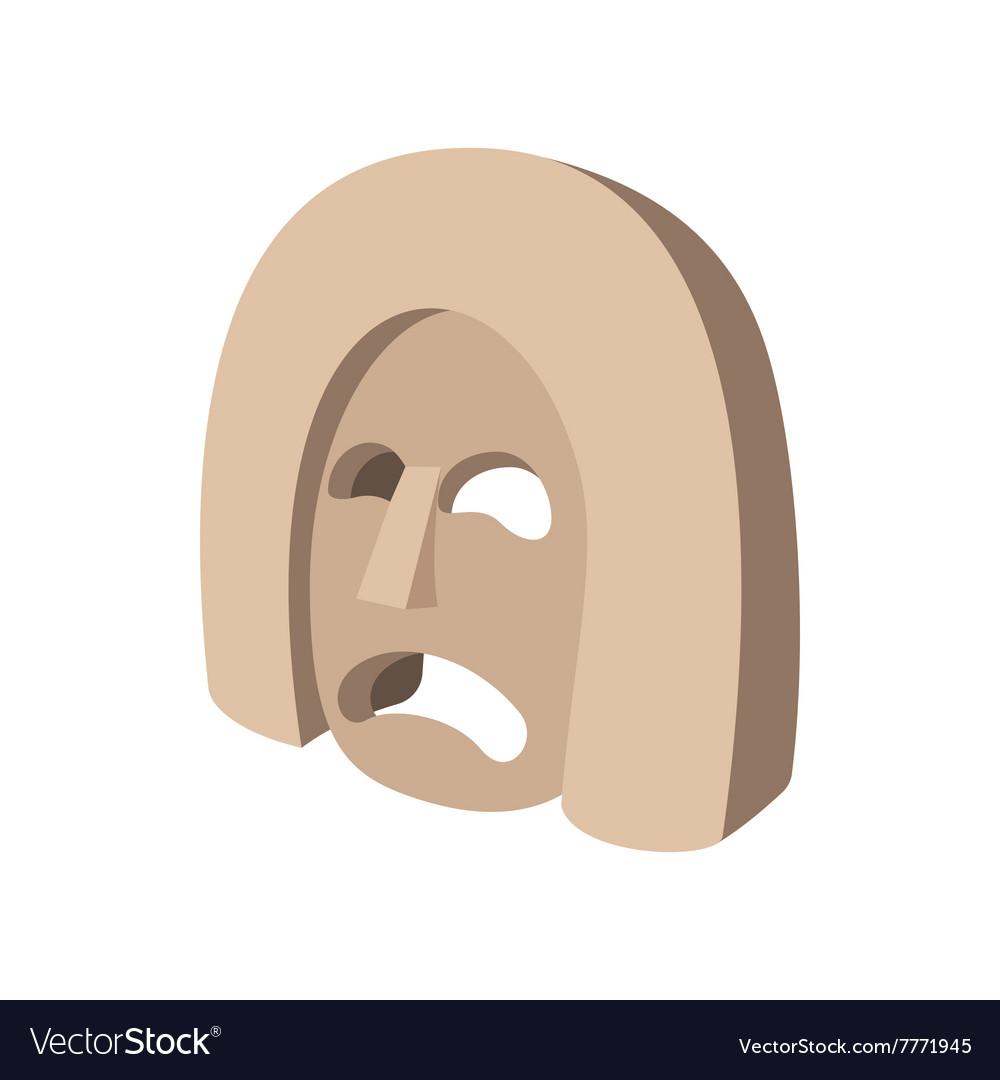 Stone mask icon cartoon style