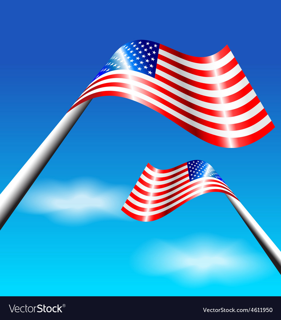 American Flag for Independence Day USA