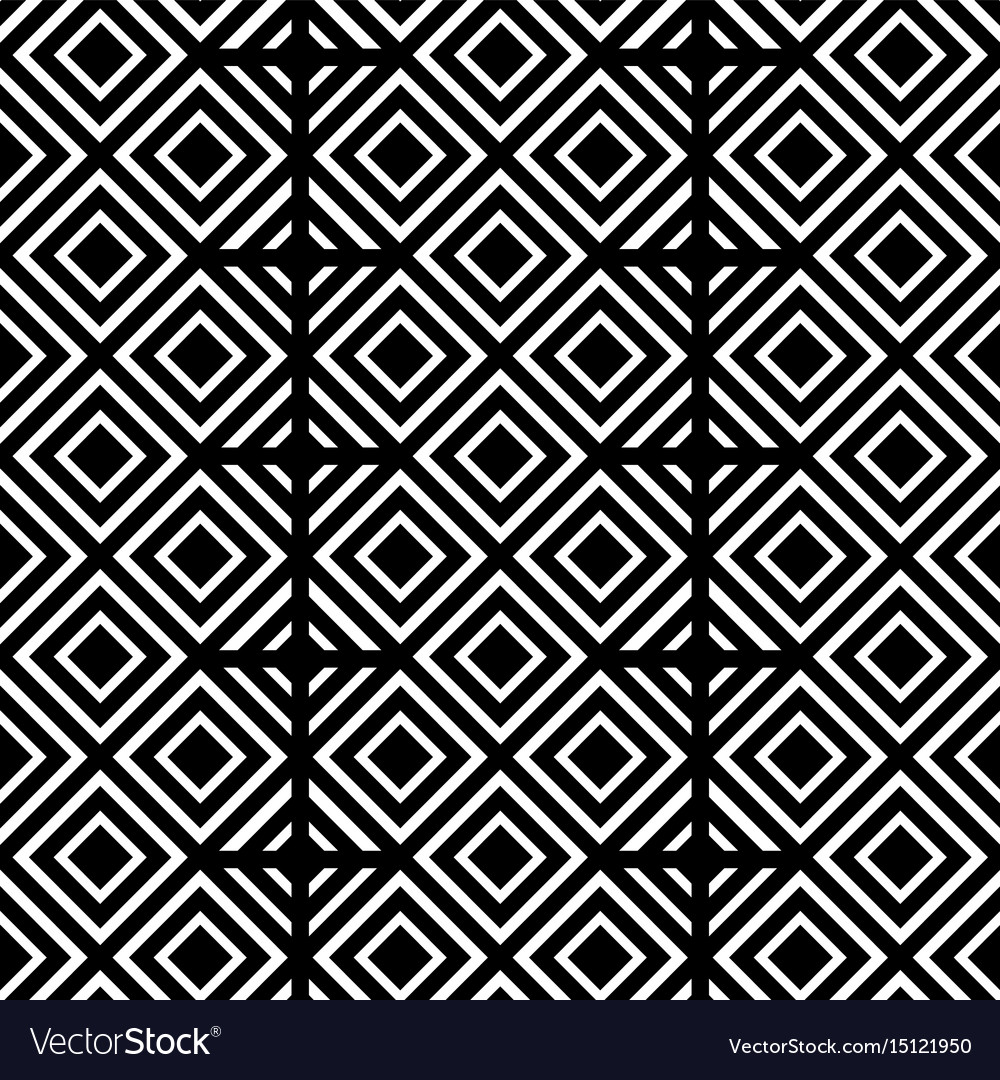 black and white geometric shapes background vector image