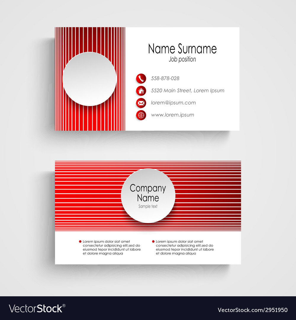 Modern red round business card template royalty free vector modern red round business card template vector image accmission Gallery