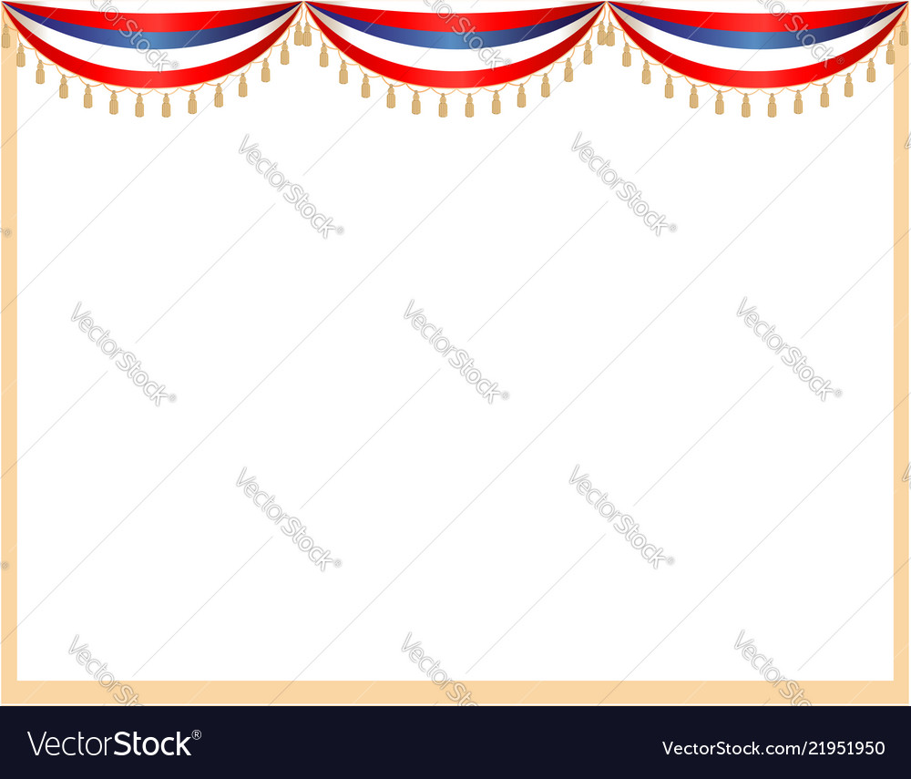 Usa flag curtains festive frame