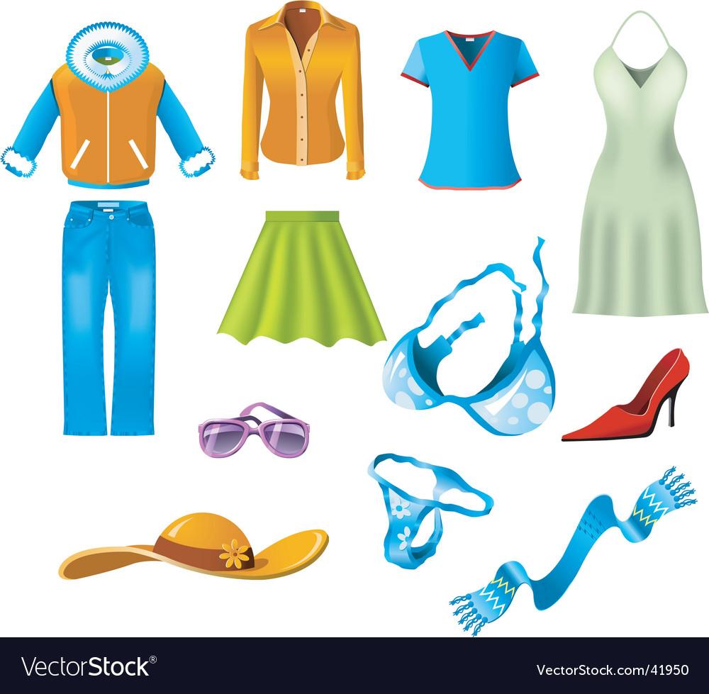 Woman Clothes Vector. Artist: Borat; File type: Vector EPS