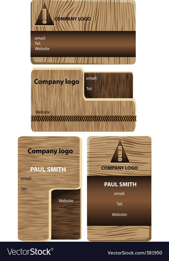 Wood business cards royalty free vector image vectorstock wood business cards vector image reheart Images