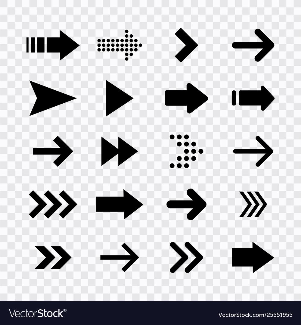 Arrows big black set icons arrow icon arrow