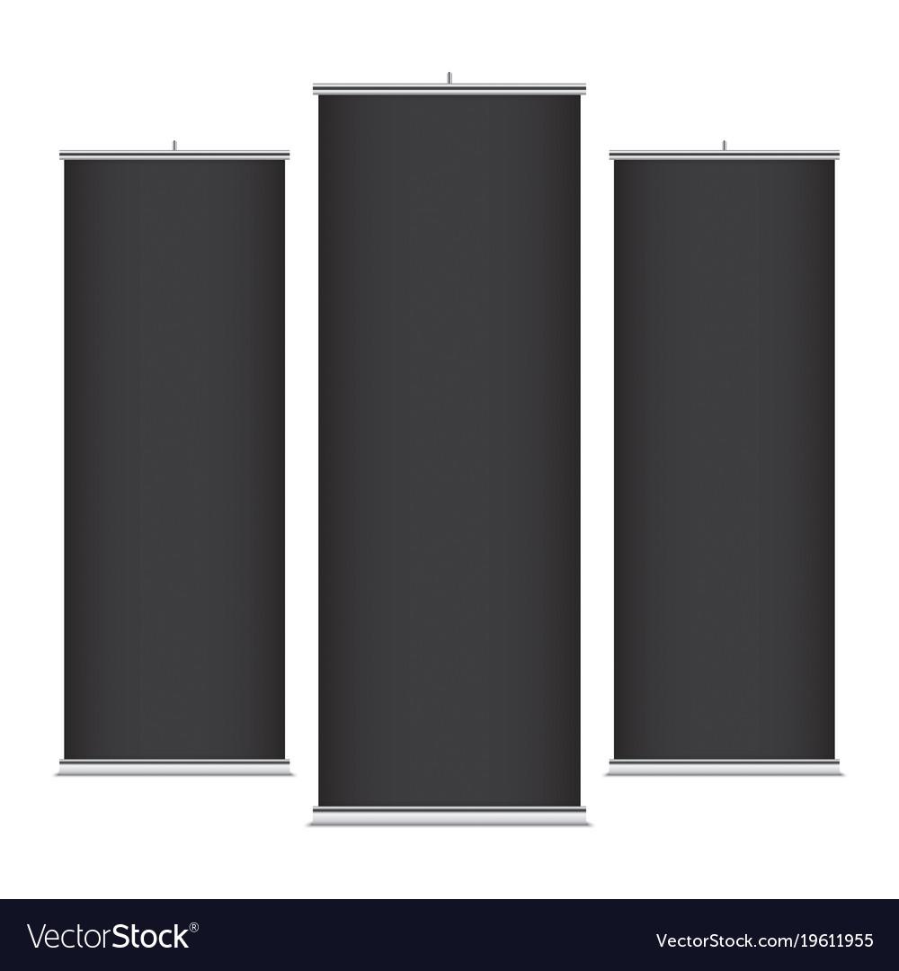 Black vertical banner templates