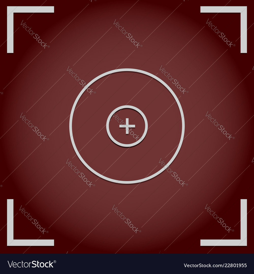 Camera viewfinder background with cross hair