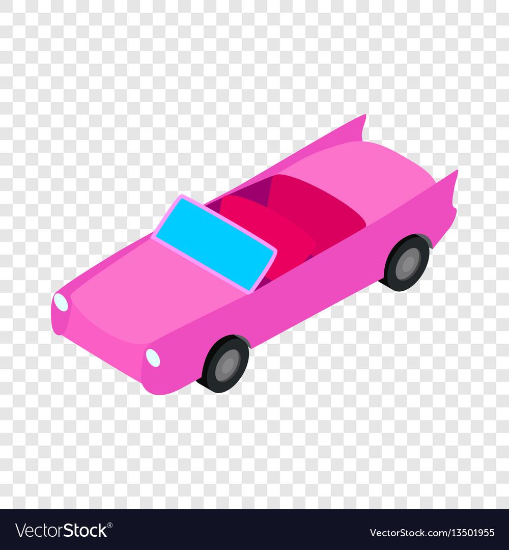 Car convertible isometric icon