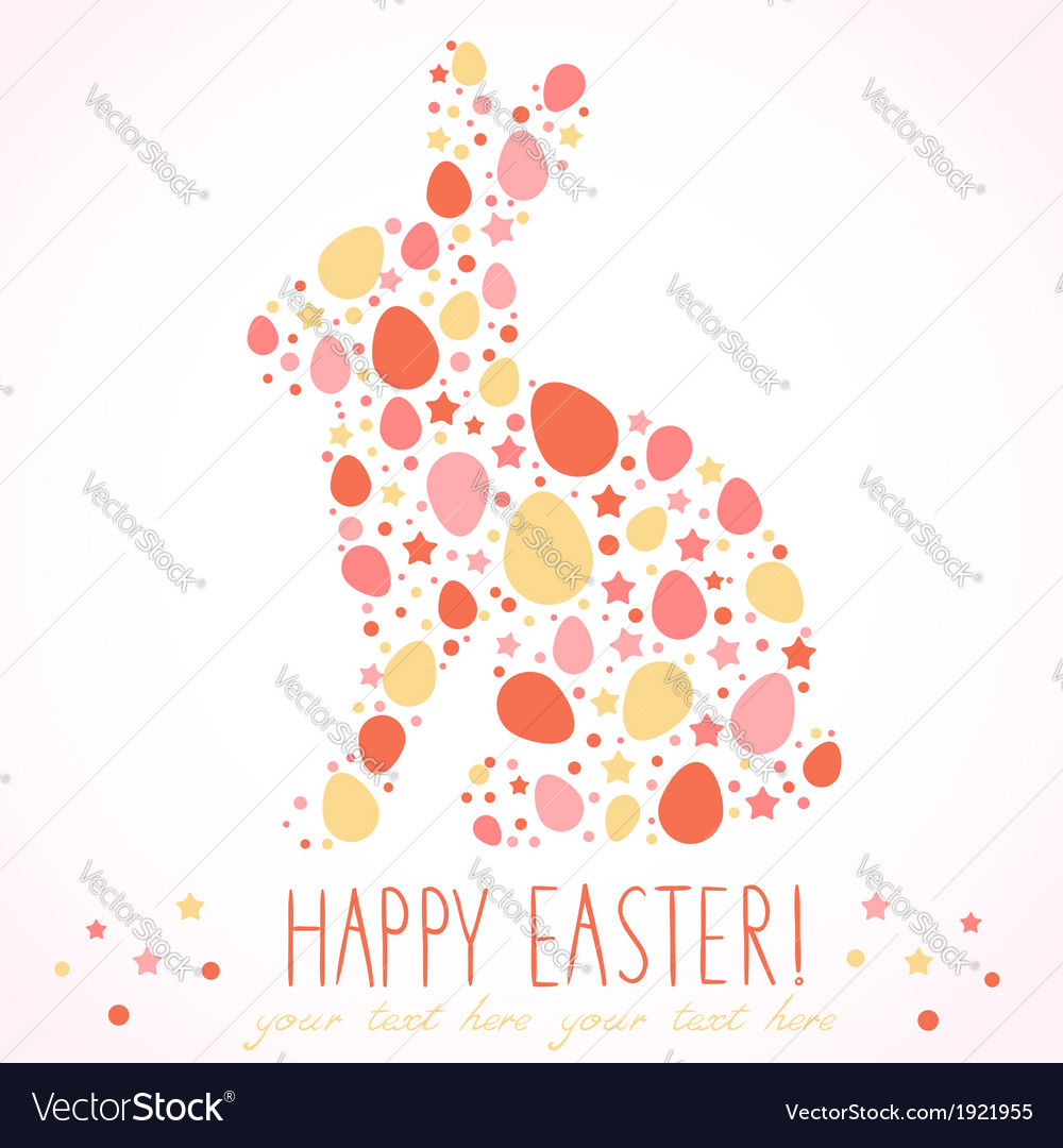 Easter bunny silhouette card