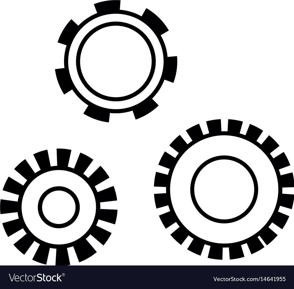 Figure industry gears engineering process vector image