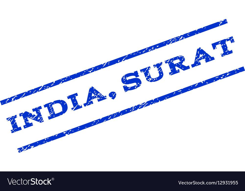 India Surat Watermark Stamp