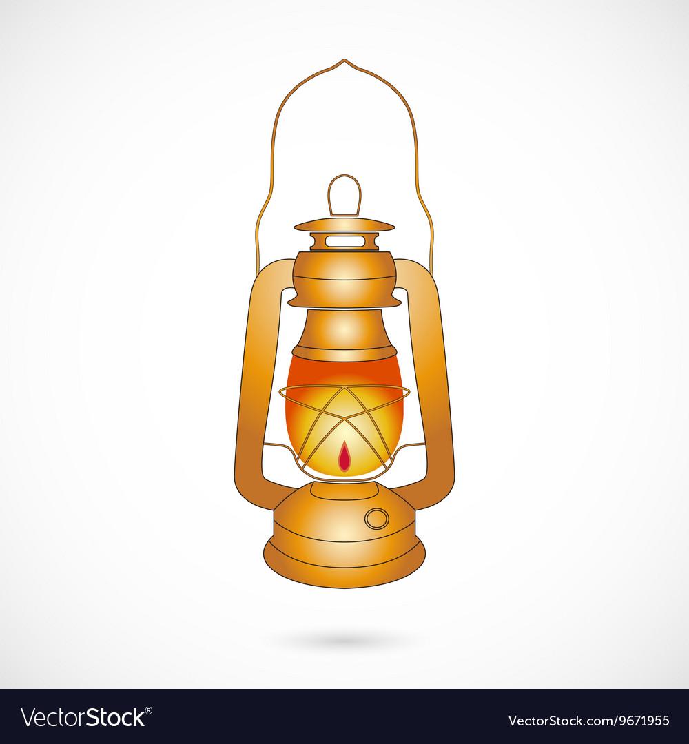 Oil Lantern over white
