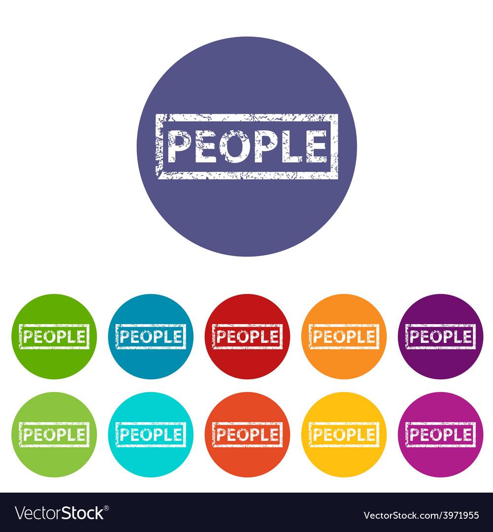 People flat icon