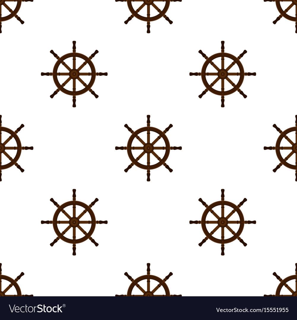 Ship handwheel helm marine seamless pattern