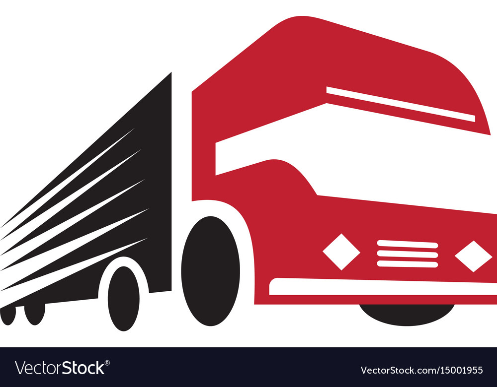 truck logo design fast delivery royalty free vector image