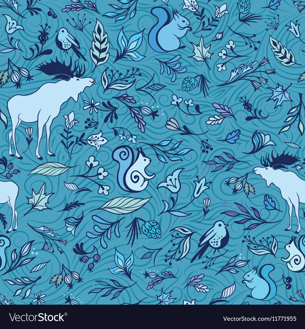 Turquoise Forest Pattern