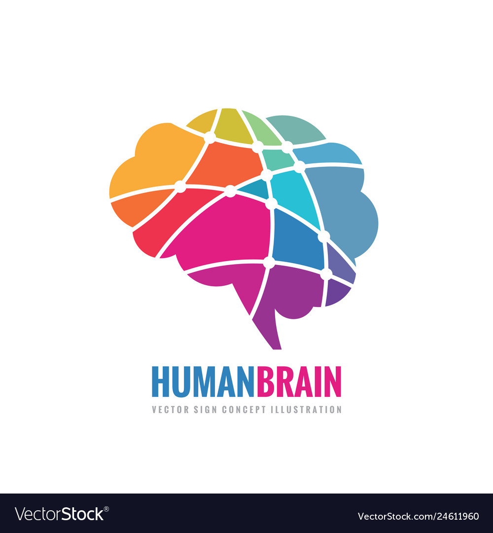 Abstract human brain - business logo