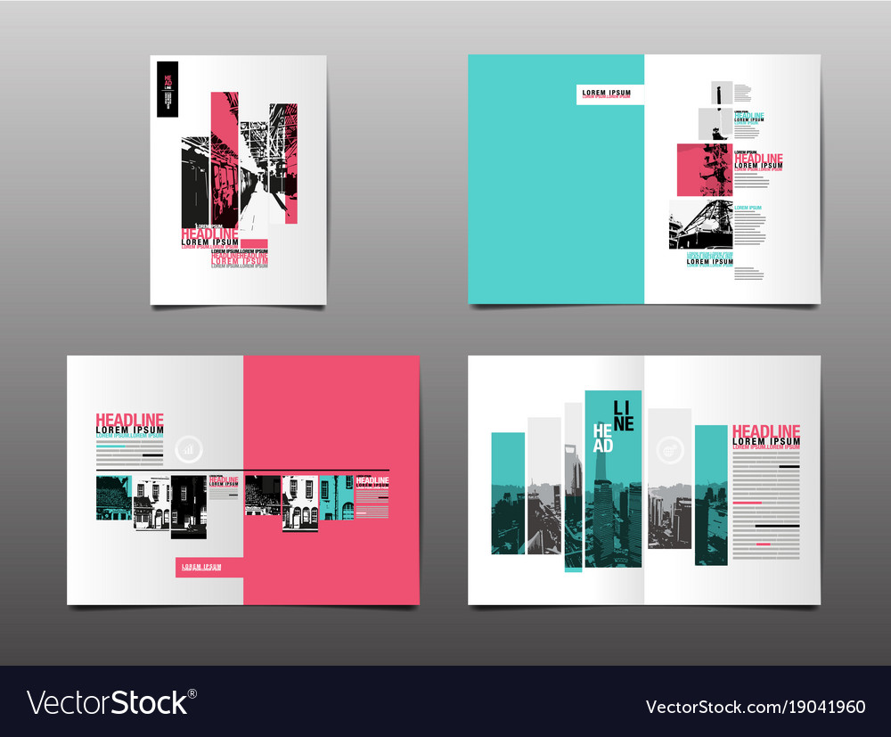 Annual report template layout design cover book vector image maxwellsz