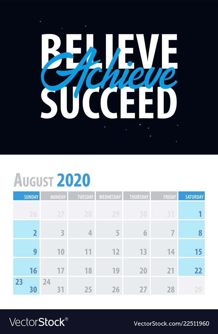 calendar planner motivational vector image