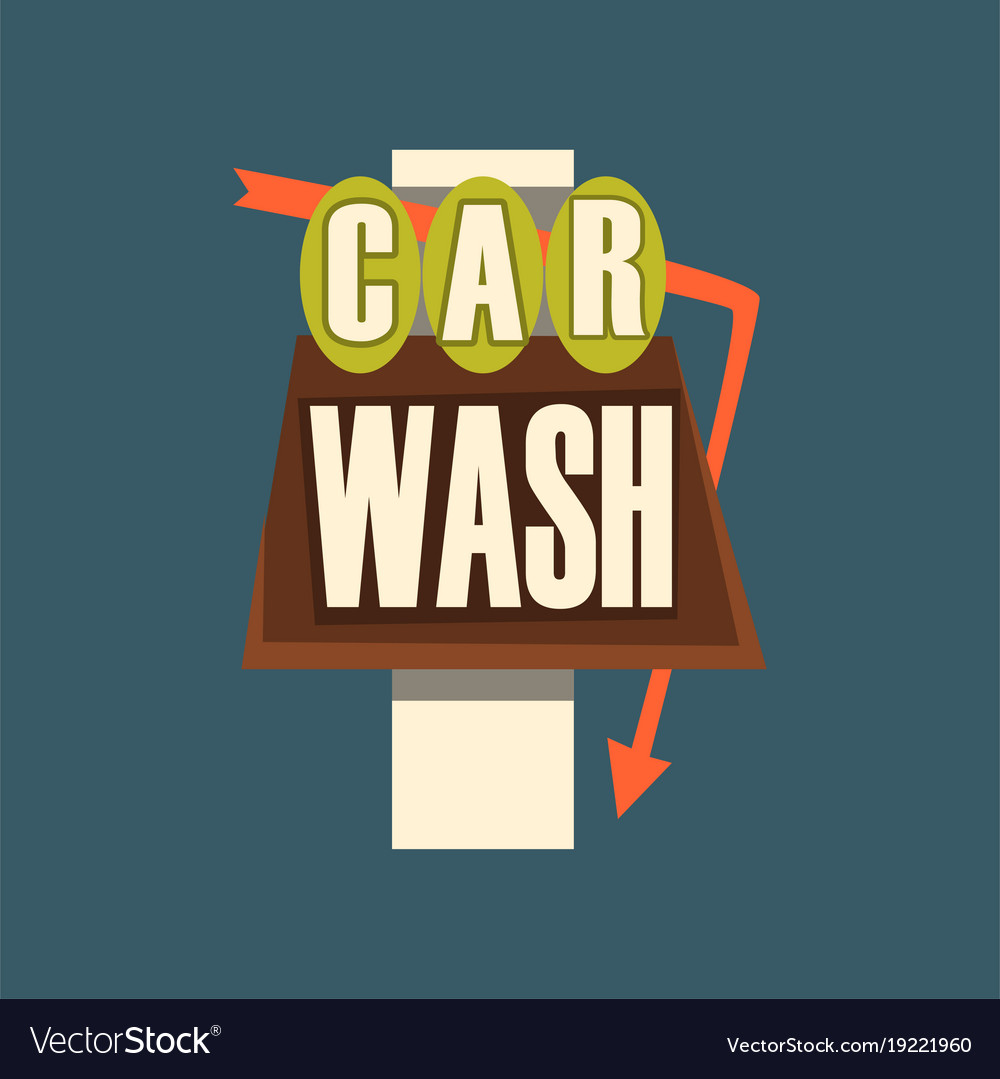 Car wash retro street signboard vintage banner