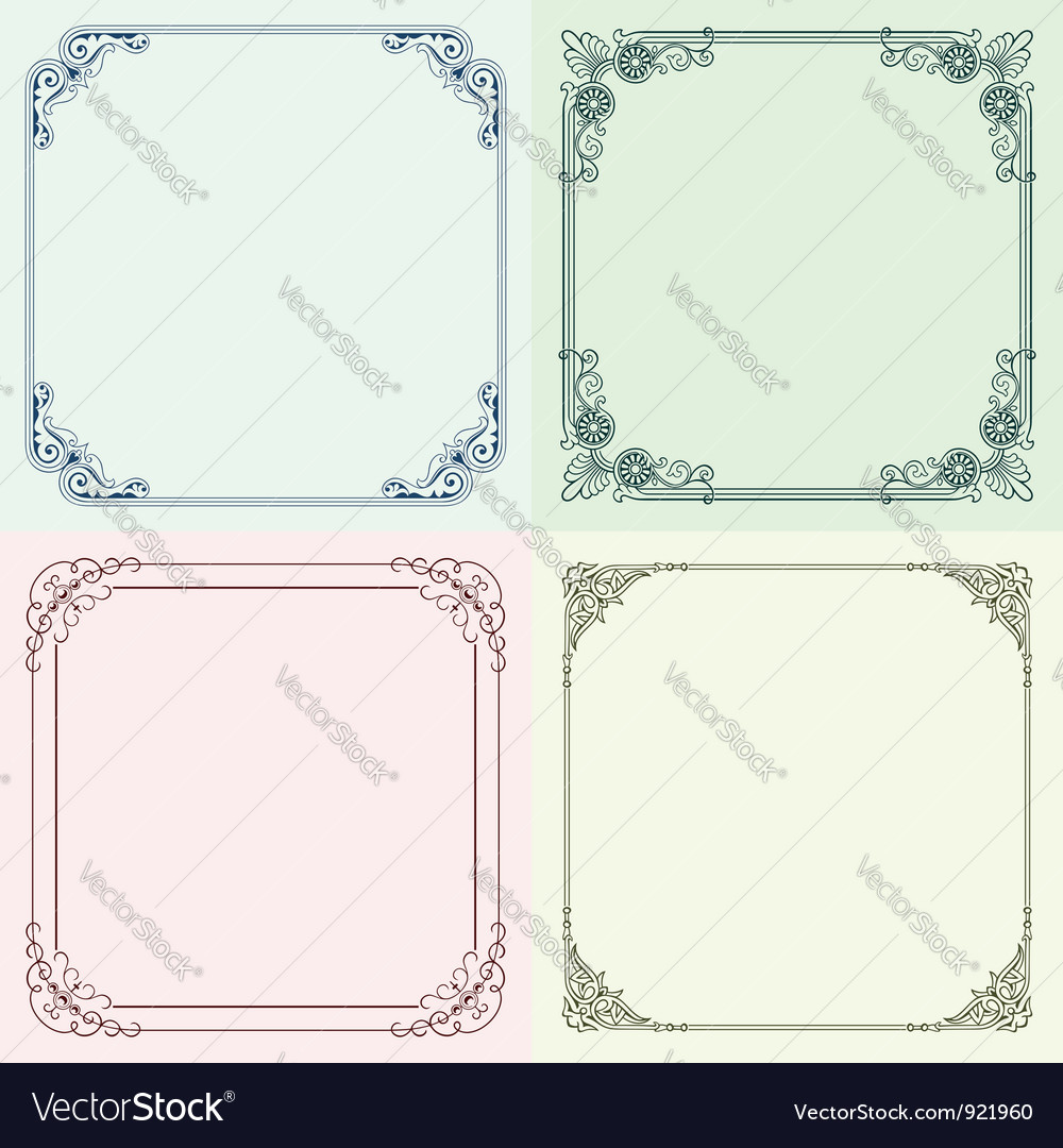 Four frames Royalty Free Vector Image - VectorStock