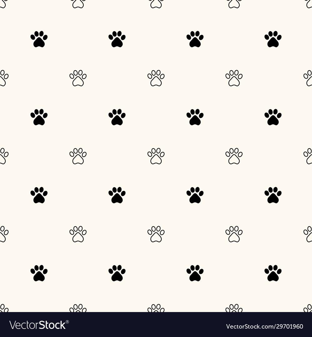 Geometrical seamless pattern with animal paw