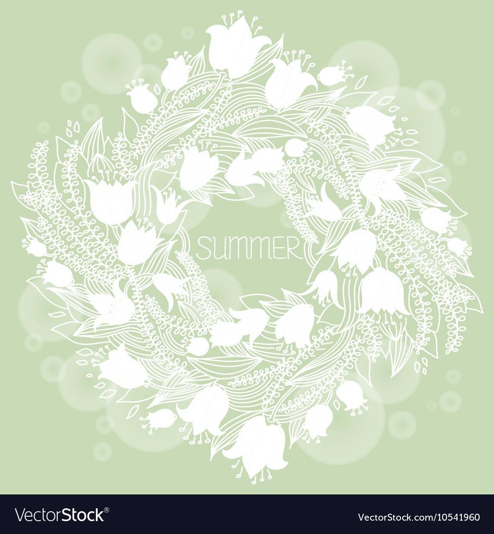 Hairline circular floral wreath