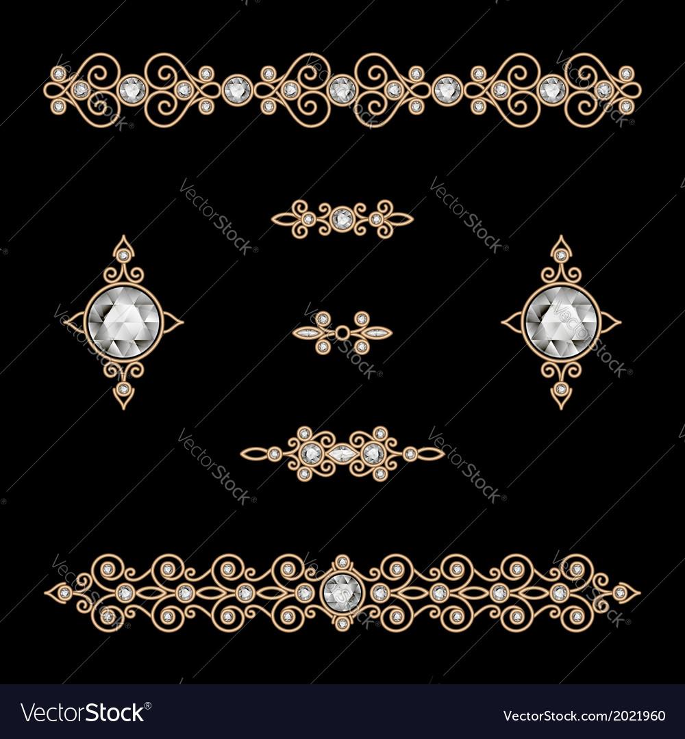 Jewelry decor vector image