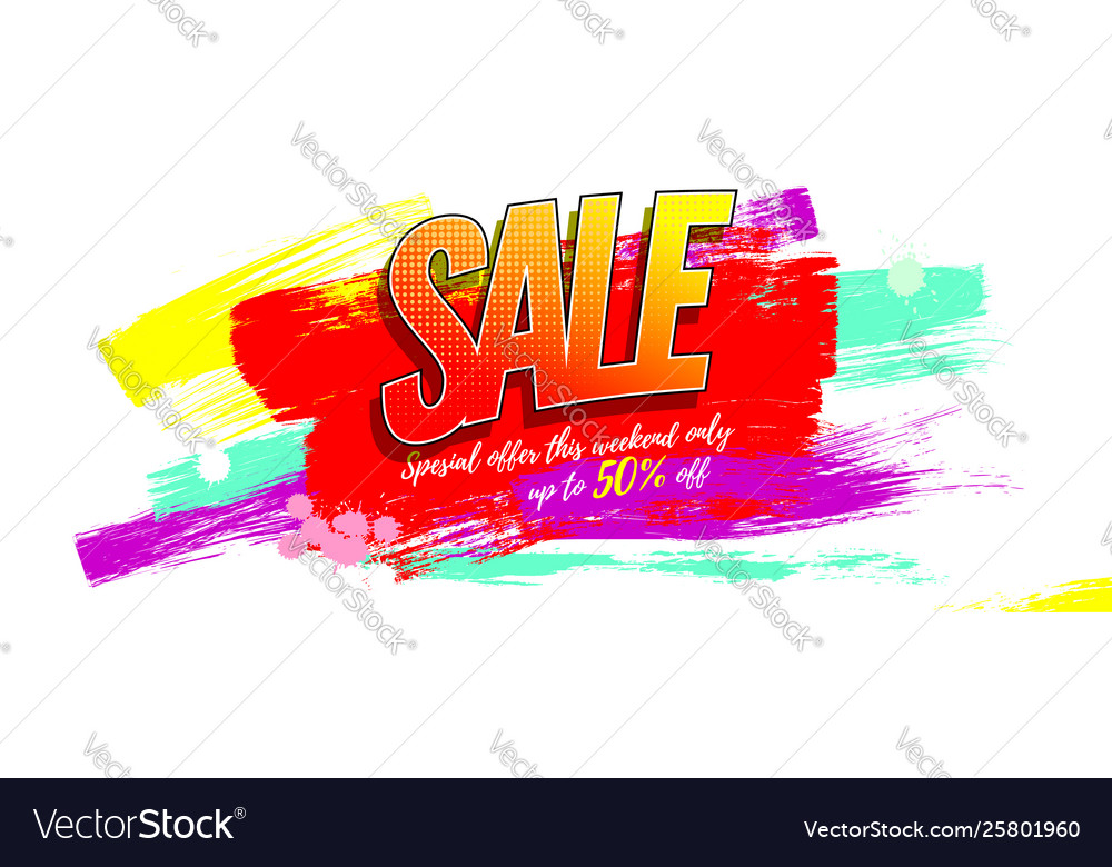 Sale creative advertising sales with discounts