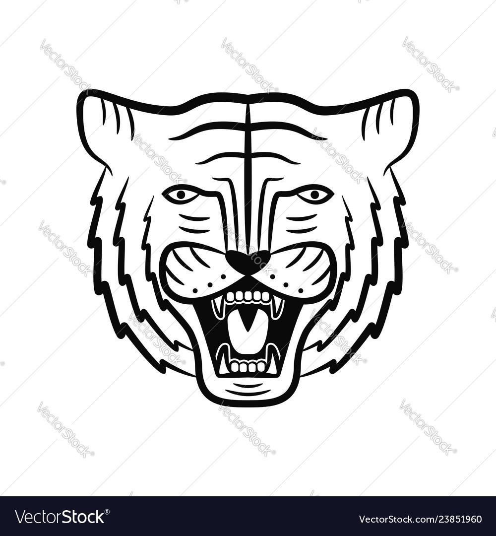 Tiger face roaring tiger head