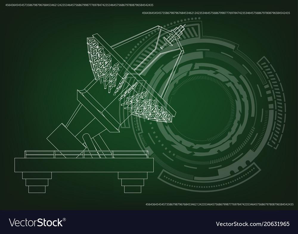3d model of an antenna vector image
