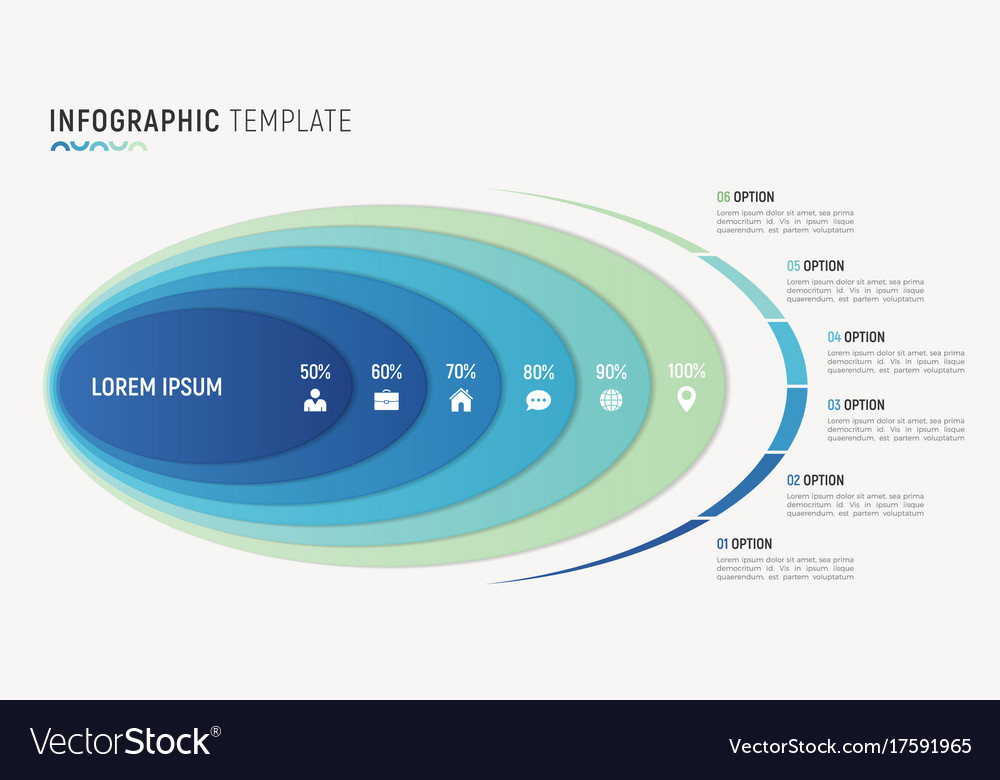 Abstract chart infographic template for