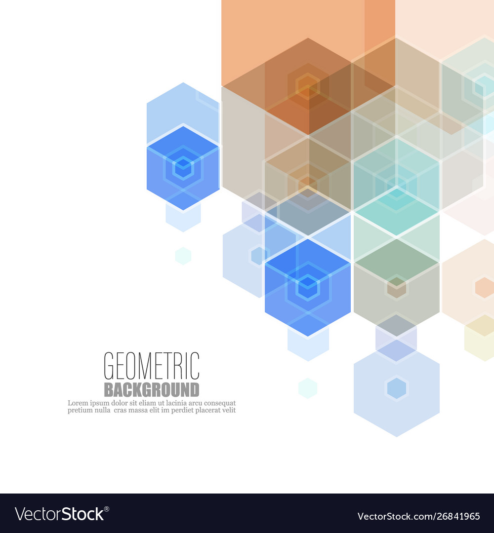 Abstract geometric background template brochure