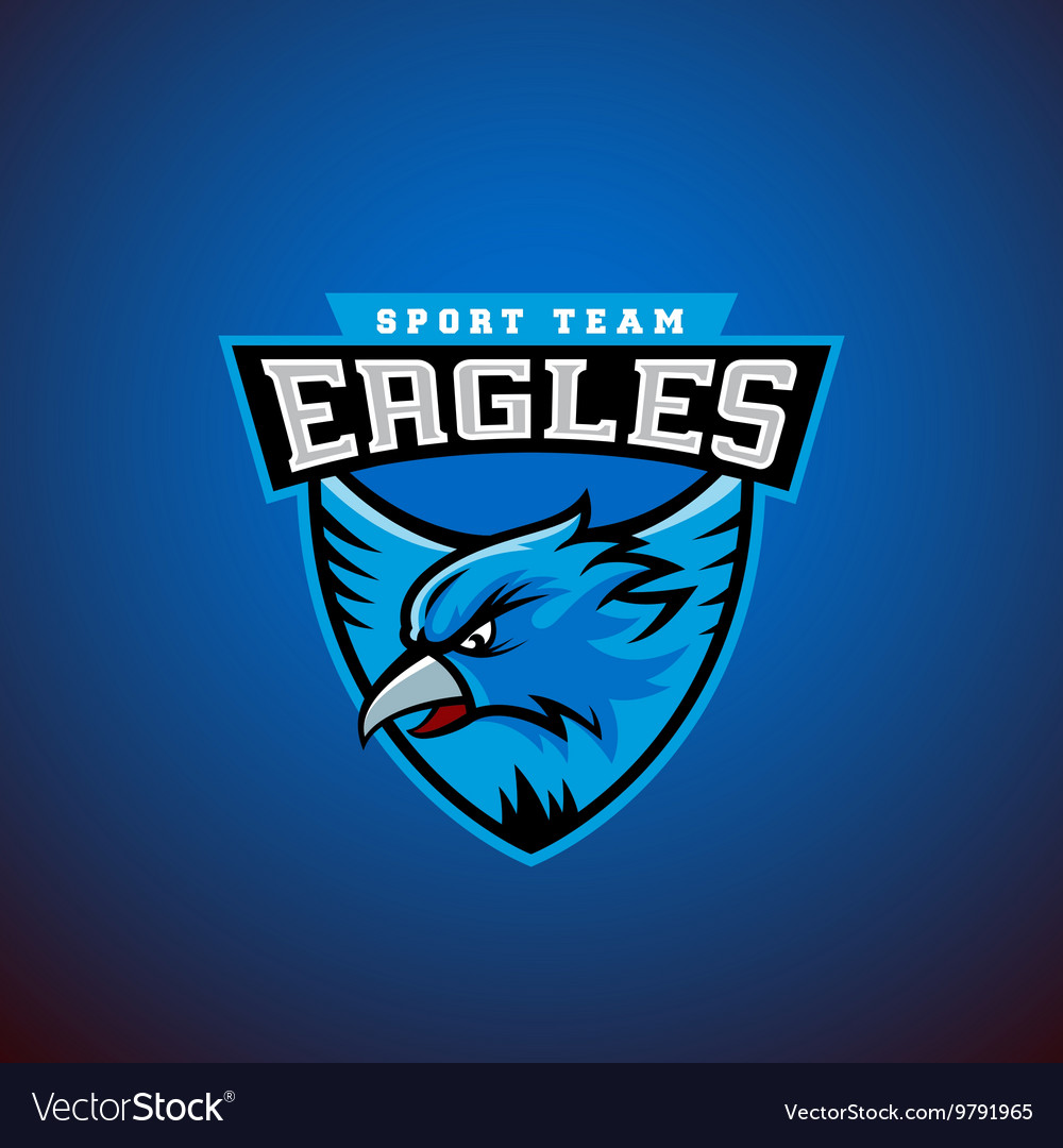 Eagle in a Shield Abstract Sport Emblem