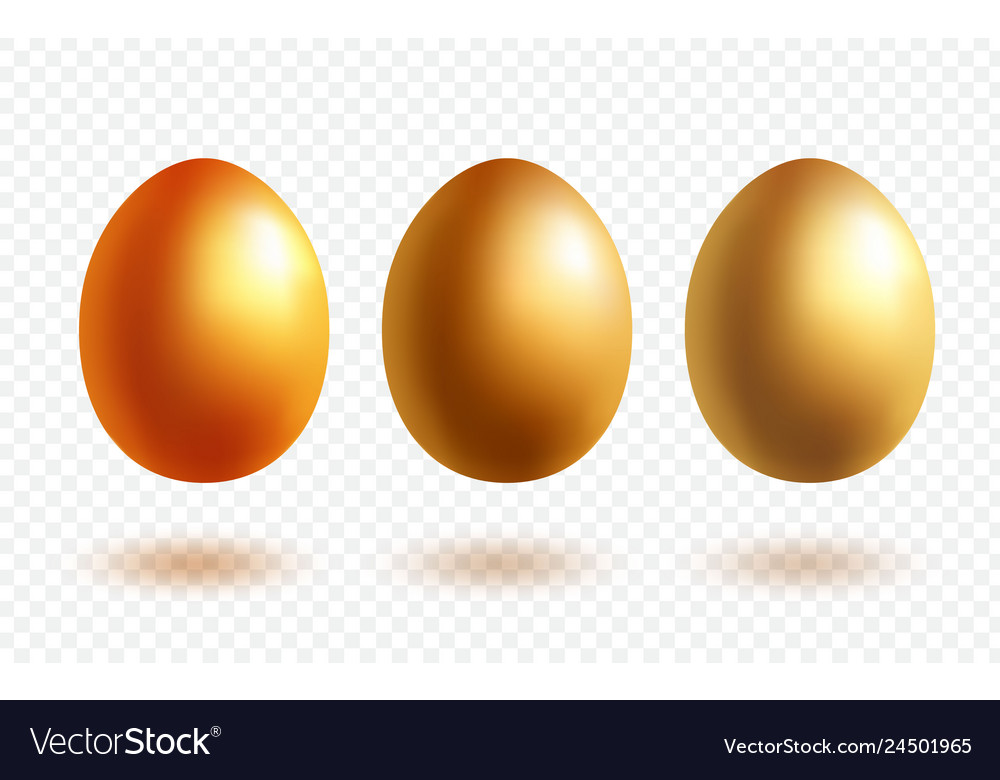 Gold egg with shadow
